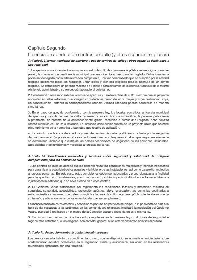 Informe sobre gesti n positiva de la diversidad religiosa for Diferencia entre licencia de apertura y licencia de actividad