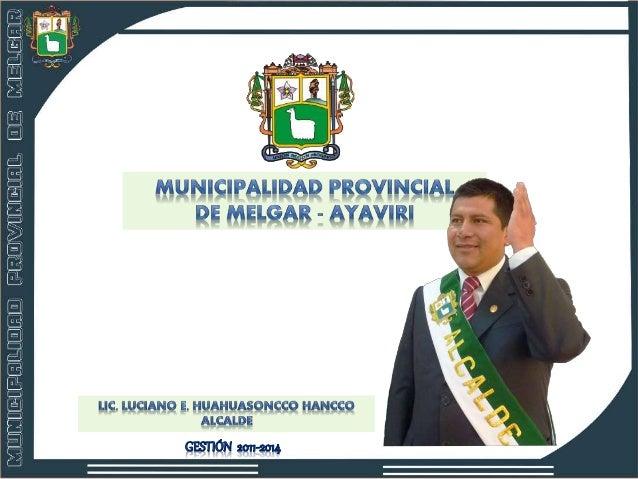 Tec. Enf. Julian MOROCCO CCOYO REGIDOR Ing. Roger Isidro BARRA MAMANI REGIDOR Prof. Wilber VELARDE CCOYTO REGIDOR Q.F. Bri...