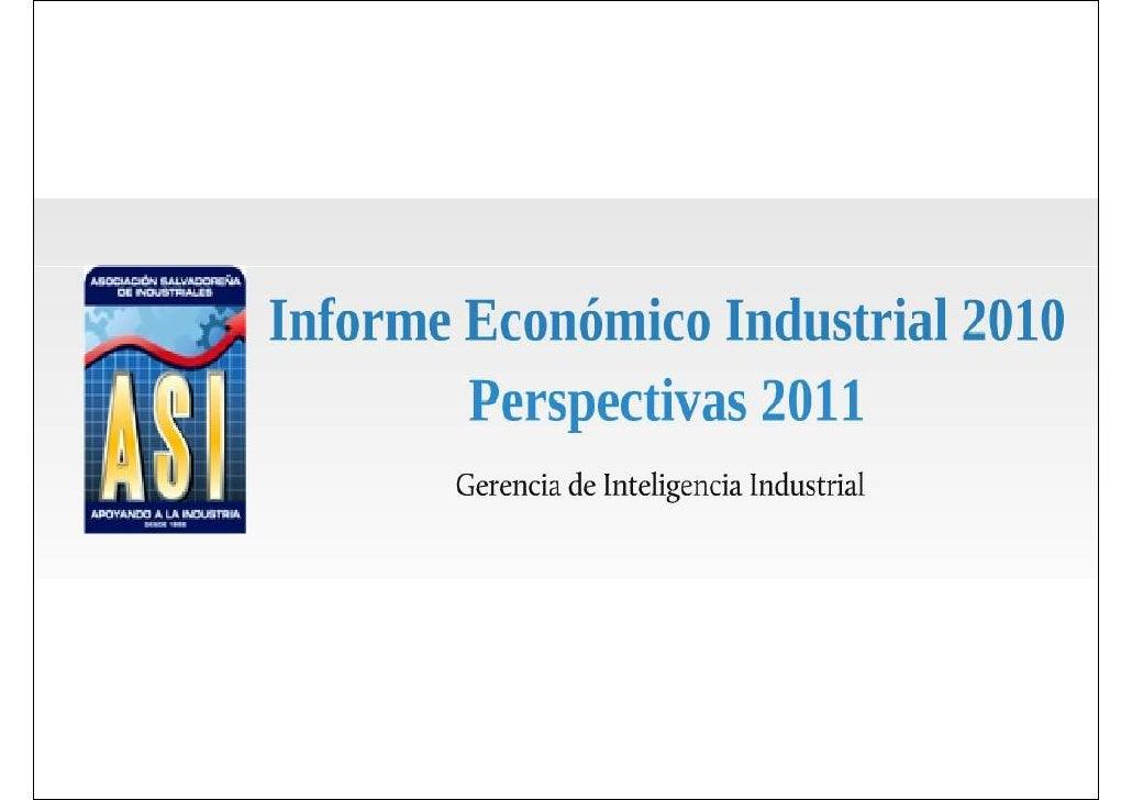 Informe Económico Industrial 2010