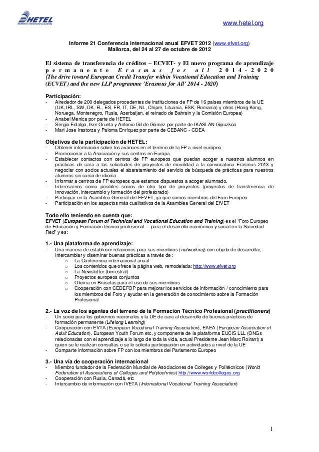1                                                                               www.hetel.org          Informe 21 Conferen...