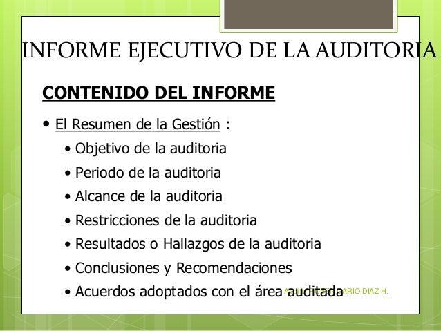 Informe Ejecutivo De La Auditoria