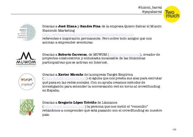 @luismi_barral @pepabarral Gracias a José Illana y Sandra Pina de la empresa Quiero Salvar el Mundo Haciendo Marketing htt...
