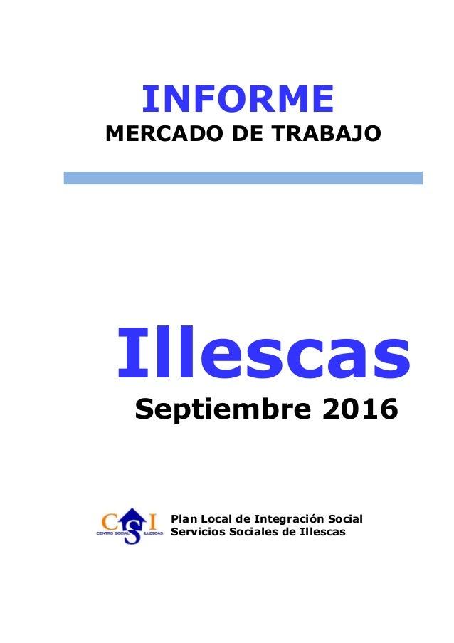 Informe empleo plis illescas actulizado a septiembre de 2016 for Oficina empleo illescas