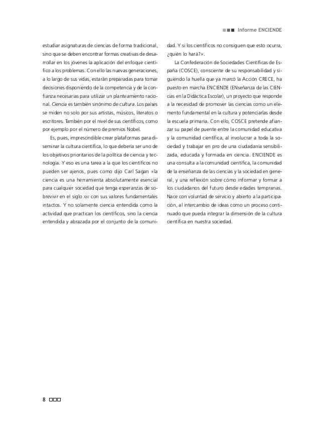 Informe ENCIENDE sección científica de la Sociedad Española de Bio- química y Biología Molecular (SEBBM). José López-Ruiz ...
