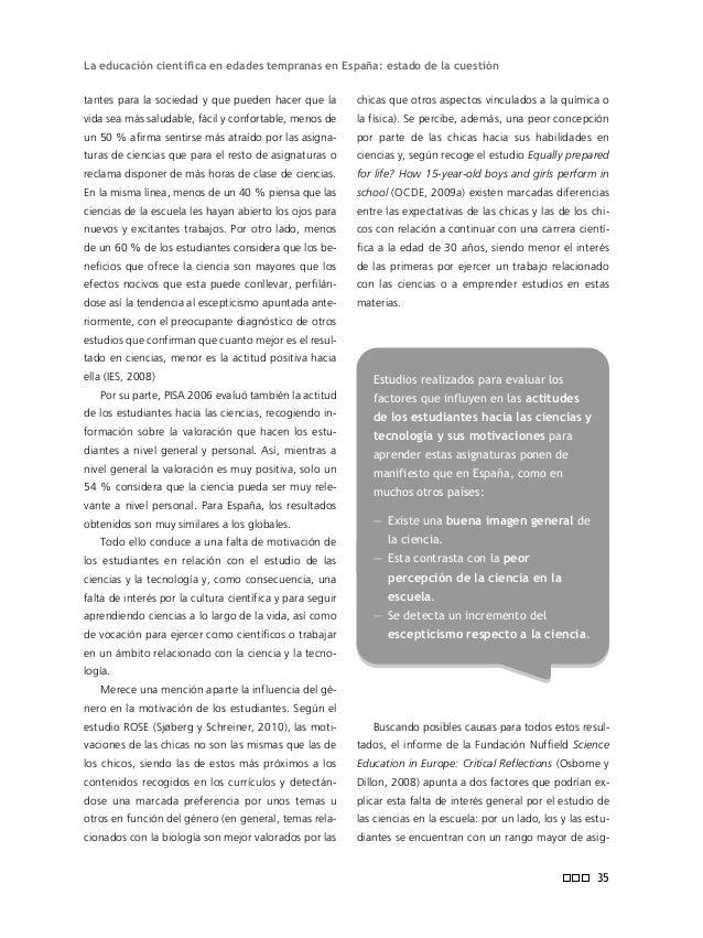 Informe ENCIENDE geología, por ejemplo, acaban dando clase de quí- mica o física) ni, más importante, en el dominio del co...