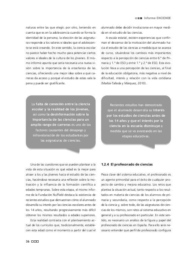 La educación científica en edades tempranas en España: estado de la cuestión 39 profesionalmente se asume como algo habitu...