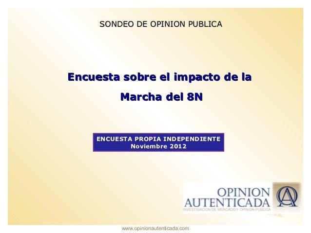 SONDEO DE OPINION PUBLICAEncuesta sobre el impacto de la         Marcha del 8N    ENCUESTA PROPIA INDEPENDIENTE           ...