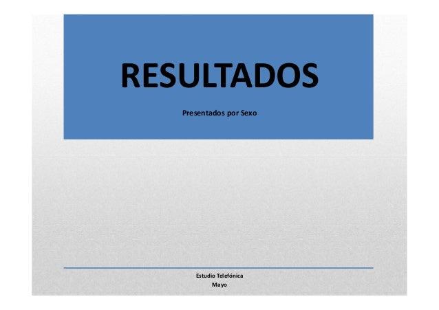 RESULTADOSPresentados por SexoEstudio TelefónicaMayo