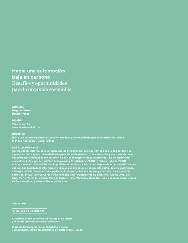 Informe ESADE - Caja de Ingenieros: Hacia una automoción baja en carbono Slide 2
