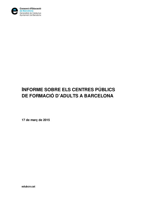 Informe sobre les escoles d 39 adults a barcelona for Escoles de disseny d interiors a barcelona