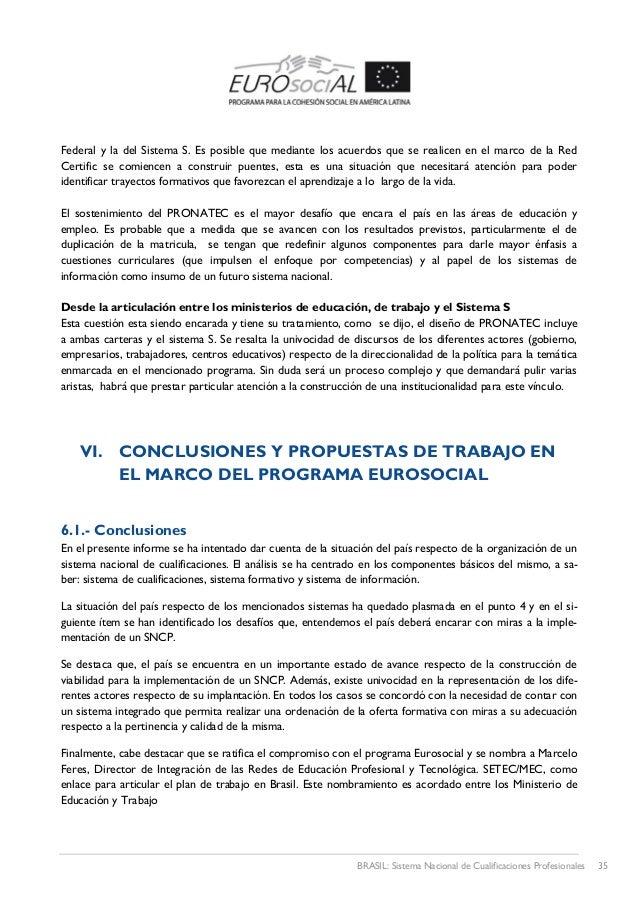 Brasil: Sistema Nacional de Cualificaciones Profesionales / Irma Bria…