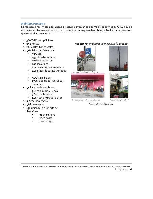 Informe final accesibilidad universal monterrey for Que es mobiliario