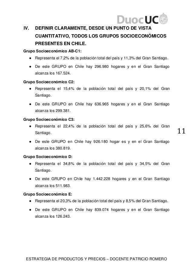 ESTRATEGIA DE PRODUCTOS Y PRECIOS – DOCENTE PATRICIO ROMERO 11 IV. DEFINIR CLARAMENTE, DESDE UN PUNTO DE VISTA CUANTITATIV...