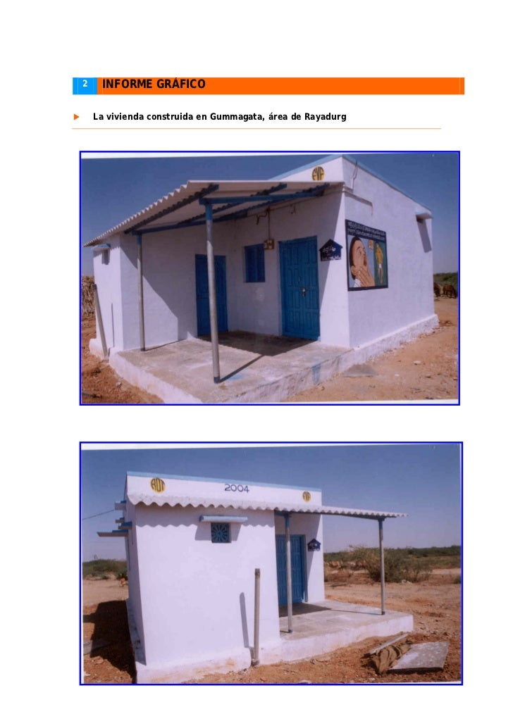 Informe final 2004 proyecto de construcci n de viviendas - Proyectos de construccion de casas ...