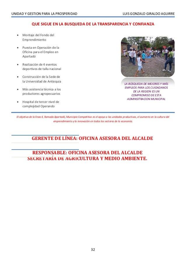 UNIDAD Y GESTION PARA LA PROSPERIDAD                                                           LUIS GONZALO GIRALDO AGUIRR...