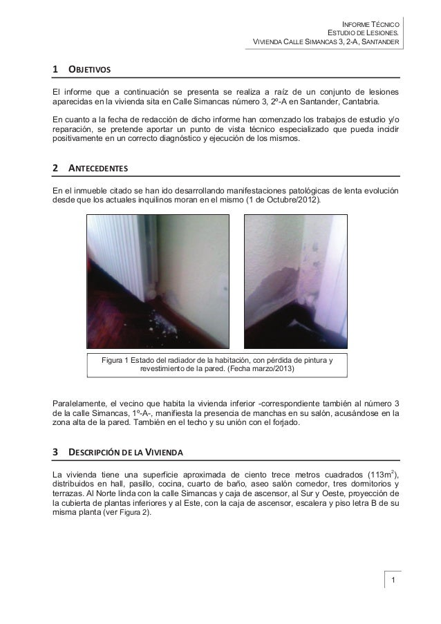 Technical Report Brief Of Damages In Simancas 3 Building