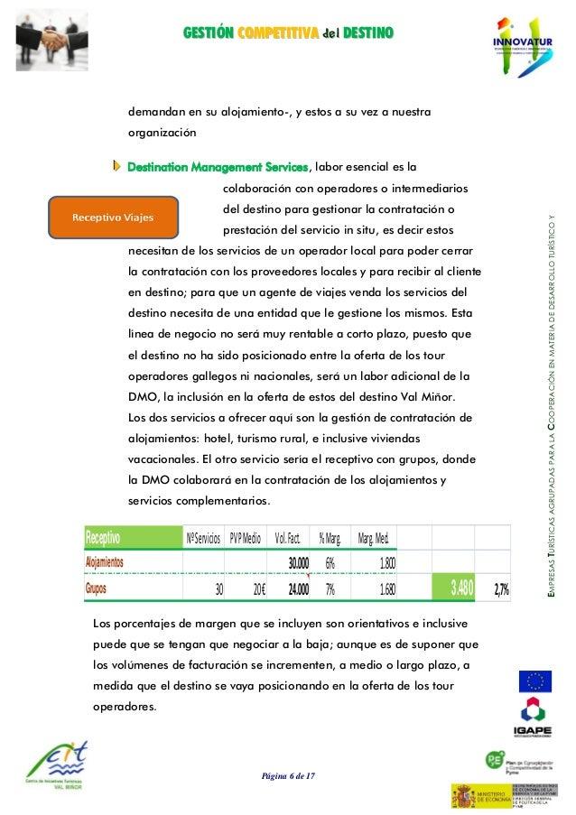GGEESSTTIIÓÓNN CCOOMMPPEETTIITTIIVVAA ddeell DDEESSTTIINNOO Página 6 de 17 EMPRESASTURÍSTICASAGRUPADASPARALACOOPERACIÓNENM...