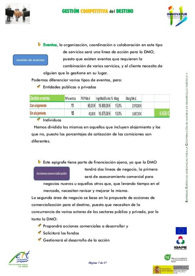 GGEESSTTIIÓÓNN CCOOMMPPEETTIITTIIVVAA ddeell DDEESSTTIINNOO Página 7 de 17 EMPRESASTURÍSTICASAGRUPADASPARALACOOPERACIÓNENM...