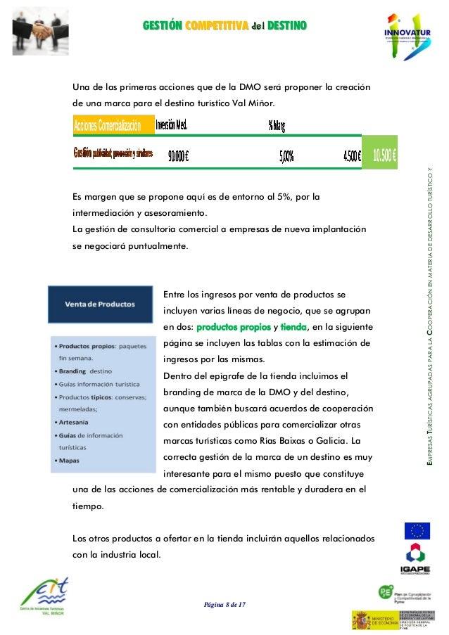GGEESSTTIIÓÓNN CCOOMMPPEETTIITTIIVVAA ddeell DDEESSTTIINNOO Página 8 de 17 EMPRESASTURÍSTICASAGRUPADASPARALACOOPERACIÓNENM...