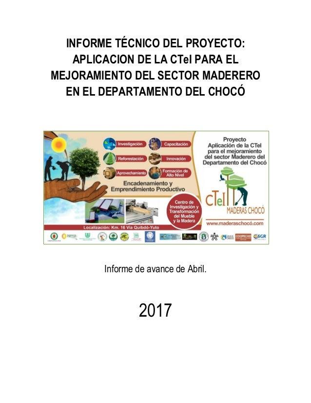 INFORME DE AVANCES DE ACTIVIDADES # 23 2017