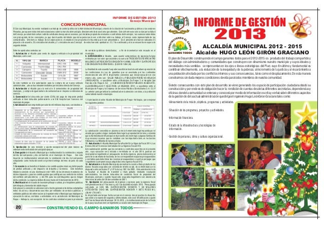 INFORME DE GESTIÓN 2013 Concejo Municipal  Municipio  de  Peque  CONCEJO MUNICIPAL El Concejo Municipal, ha venido realiza...