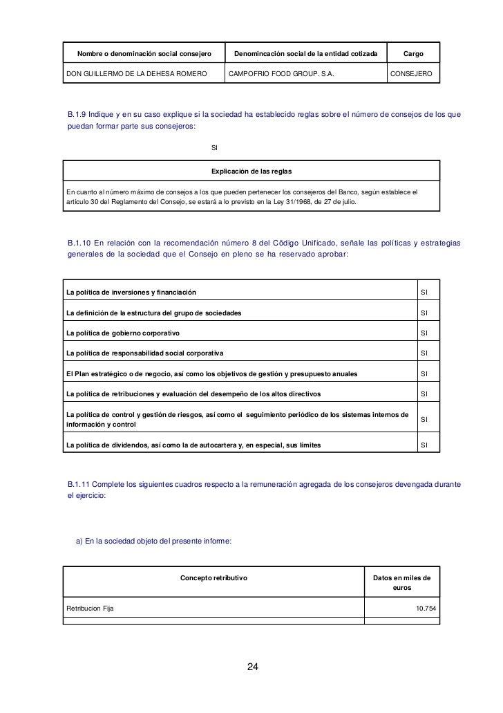 Nombre o denominación social consejero             Denomincación social de la entidad cotizada         CargoDON GUILLERMO ...