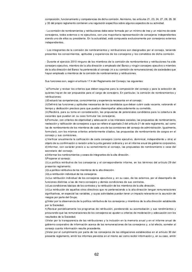 Informe gobierno corporativo 2010
