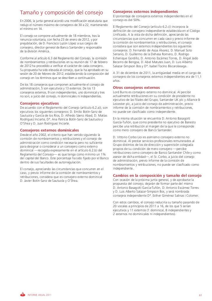 Tamaño y composición del consejo                                     Consejeros externos independientes                   ...