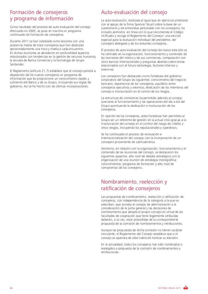 Formación de consejeros                                           Auto-evaluación del consejoy programa de información    ...