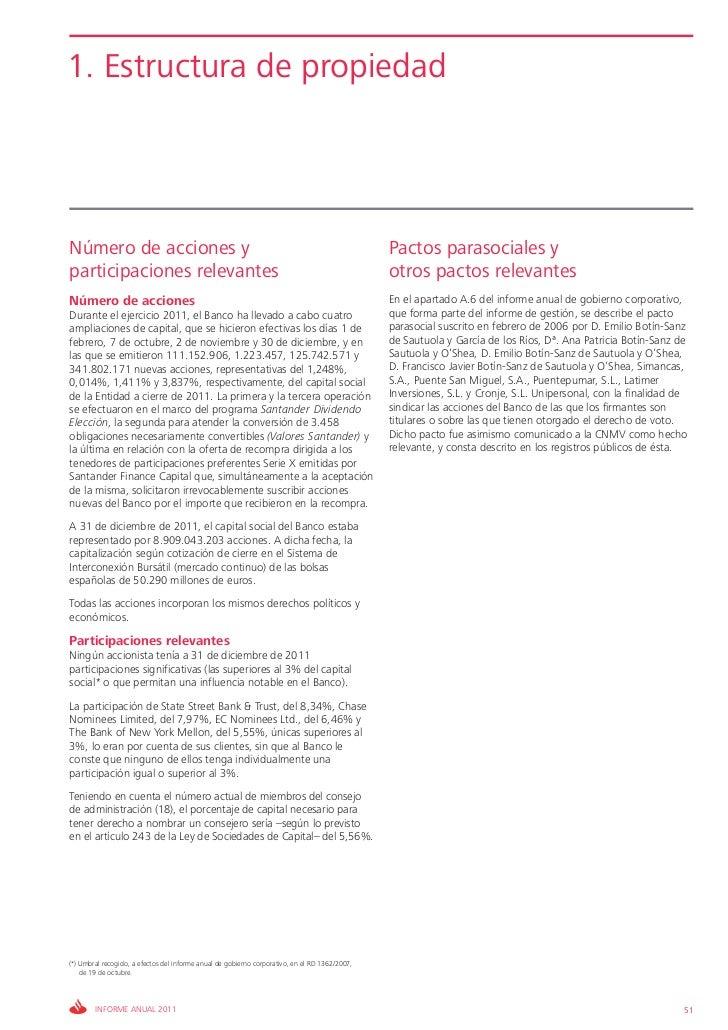 1. Estructura de propiedadNúmero de acciones y                                                                            ...