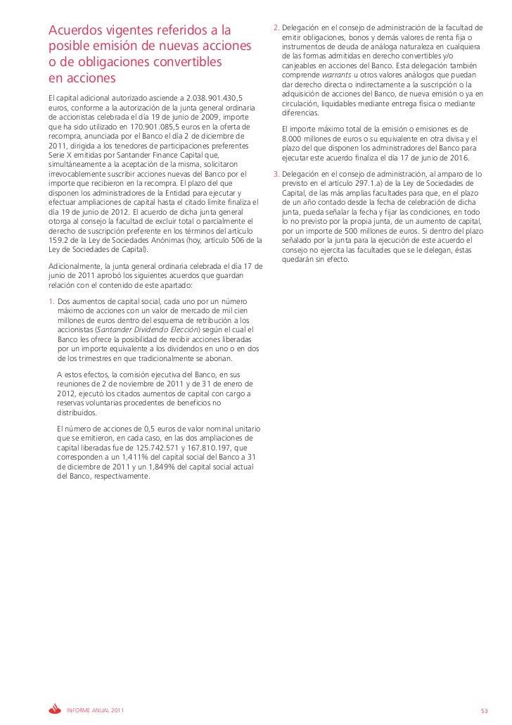 Acuerdos vigentes referidos a la                                      2. Delegación en el consejo de administración de la ...
