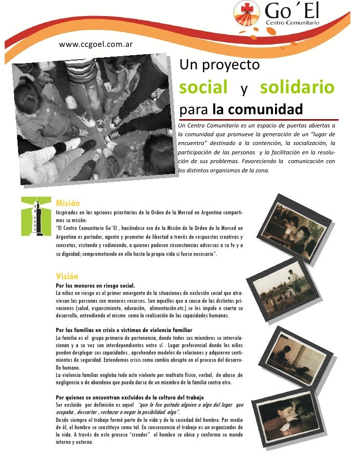 www.ccgoel.com.ar                                                           Un proyecto                                   ...