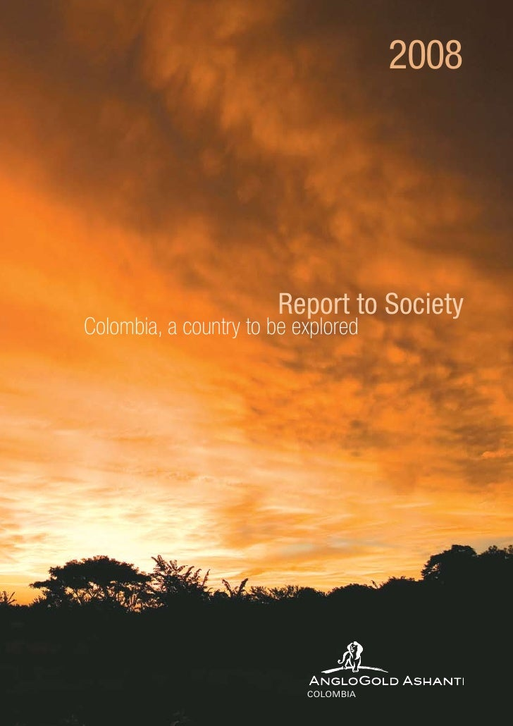 Report to society 2008                                          2008                        Report to SocietyColombia, a c...