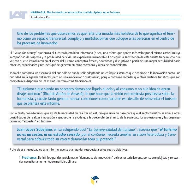 HIBRIDATUR. Efecto Medici e innovación multidisciplinar en el Turismo                2. Hibridación. Marco conceptual: Enf...