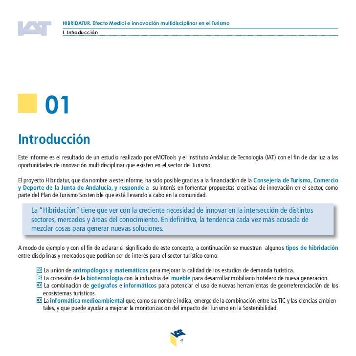 HIBRIDATUR. Efecto Medici e innovación multidisciplinar en el Turismo                1. Introducción     Uno de los proble...