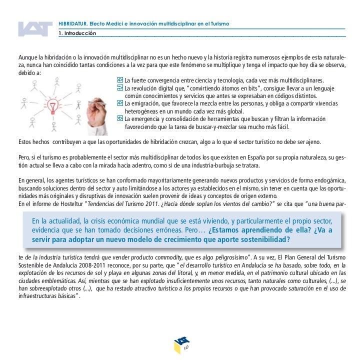 HIBRIDATUR. Efecto Medici e innovación multidisciplinar en el Turismo                1. Introducción                      ...