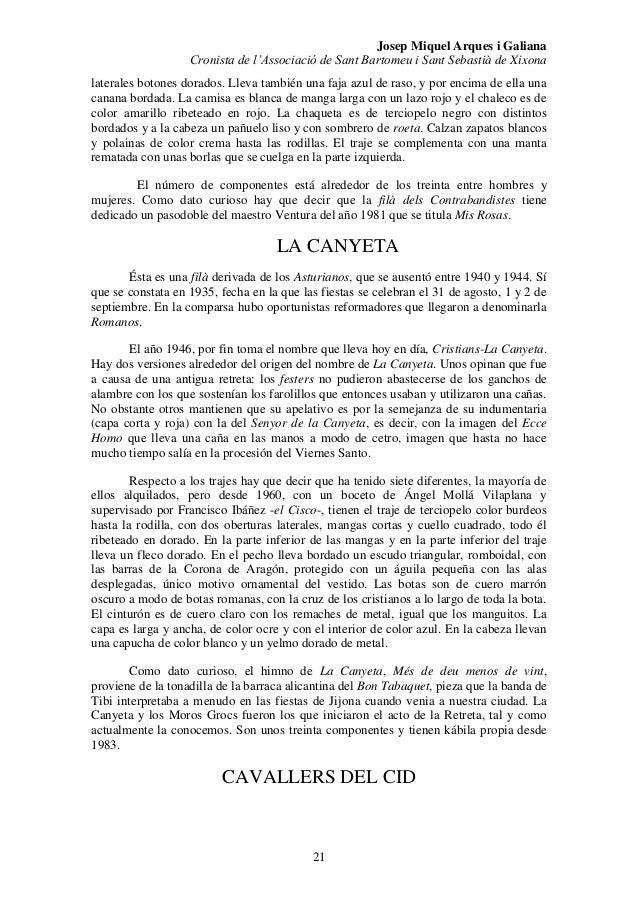 Informe histórico de las fiestas de m y c.