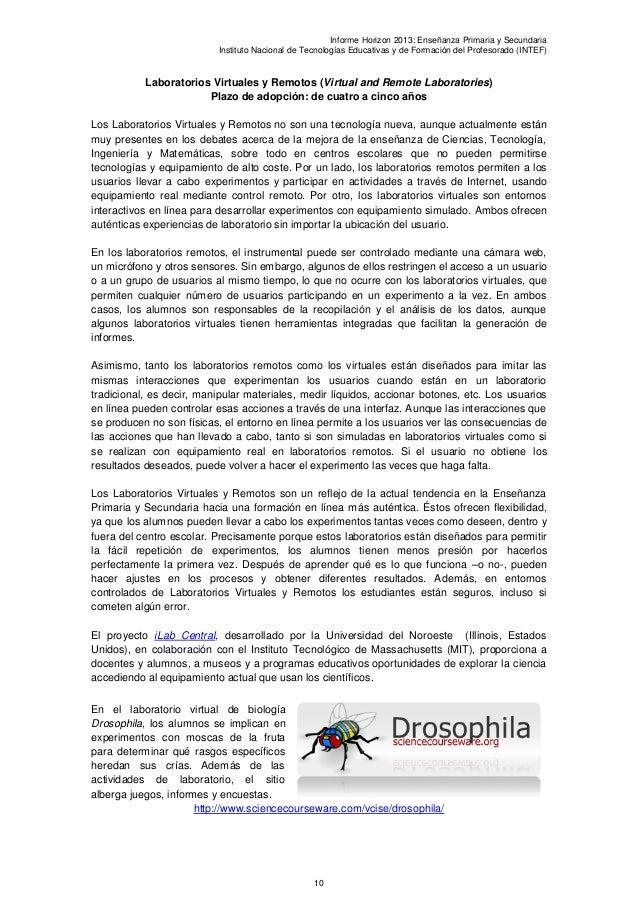 Informe Horizon 2013: Enseñanza Primaria y SecundariaInstituto Nacional de Tecnologías Educativas y de Formación del Profe...