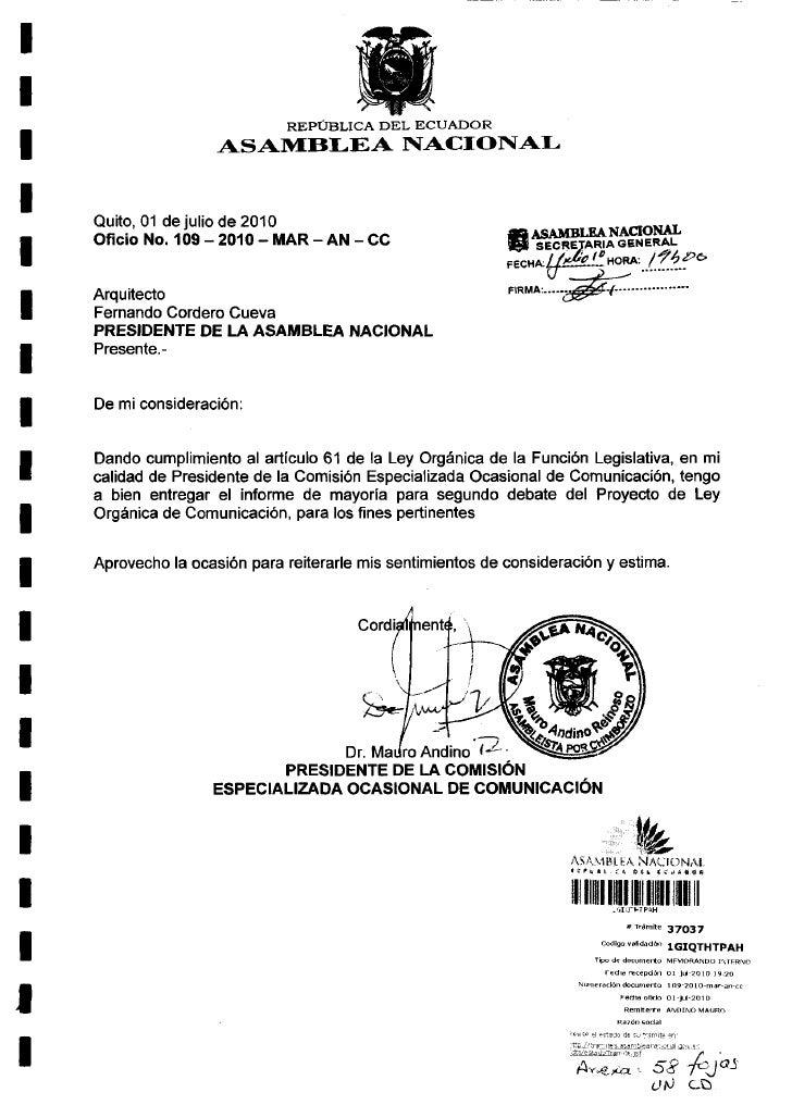 Comisión de Comunicación Informe II debate LOC- 01.07.2010