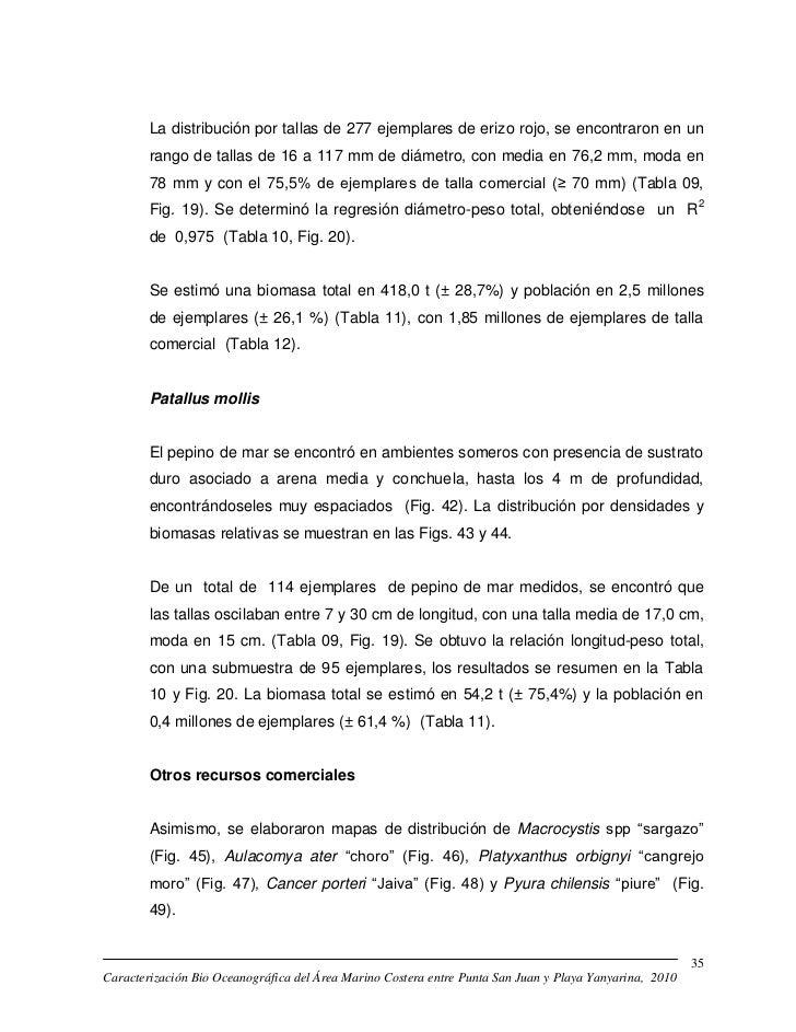 La distribución por tallas de 277 ejemplares de erizo rojo, se encontraron en un        rango de tallas de 16 a 117 mm de ...