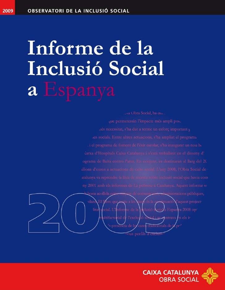Informe de la Inclusió Social a Espanya 2009