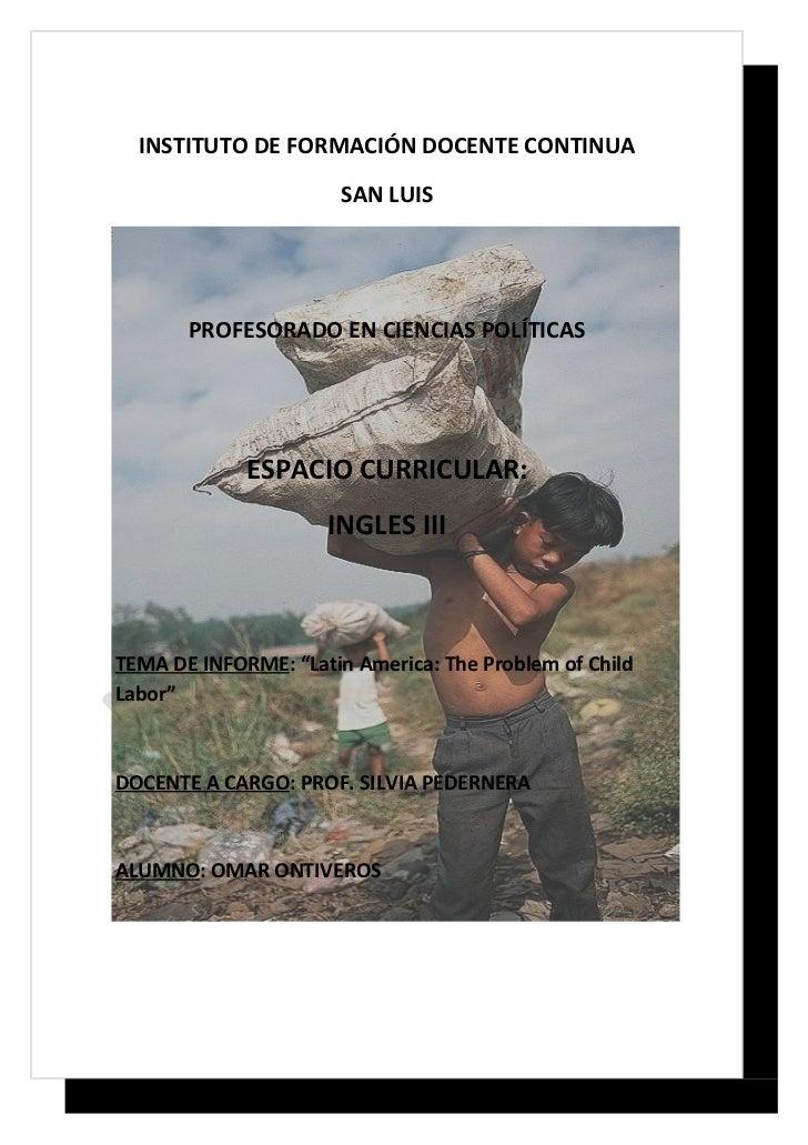 INSTITUTO DE FORMACIÓN DOCENTE CONTINUA                       SAN LUIS       PROFESORADO EN CIENCIAS POLÍTICAS            ...
