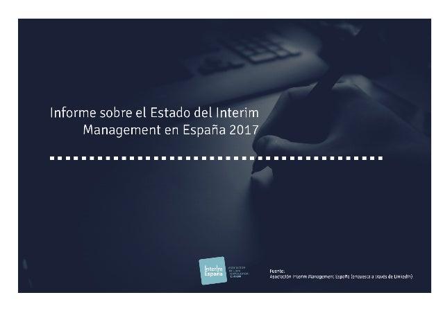 Informe sobre el Estado del Interim Management en España 2017, de AIME.