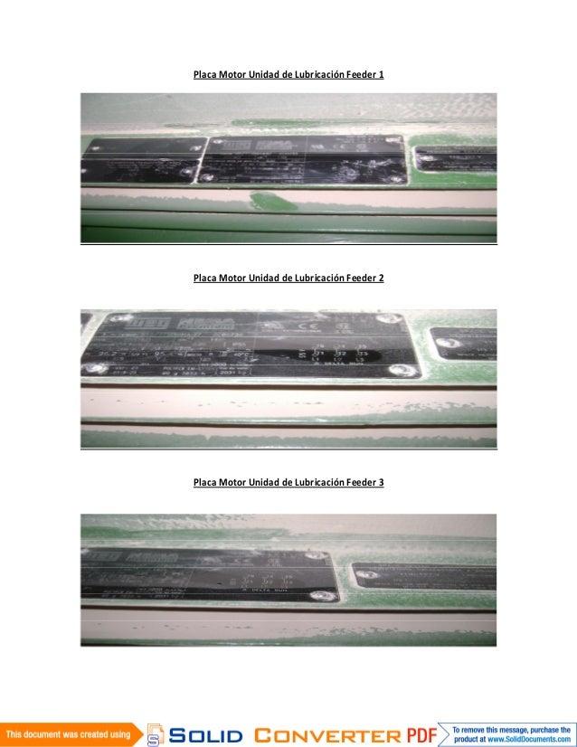 Placa Motor Unidad de Lubricación Feeder 1Placa Motor Unidad de Lubricación Feeder 2Placa Motor Unidad de Lubricación Feed...