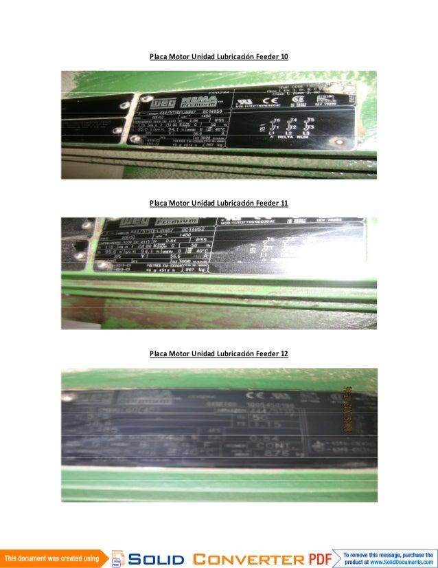 Placa Motor Unidad Lubricación Feeder 10Placa Motor Unidad Lubricación Feeder 11Placa Motor Unidad Lubricación Feeder 12