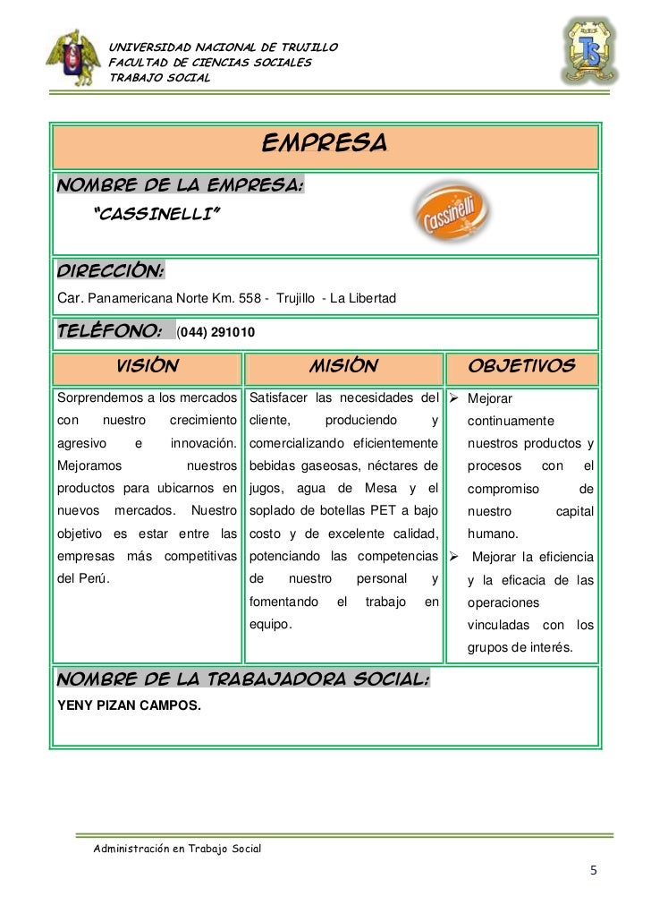 Listado de empresas donde labora una trabajadora social for Listado de empresas malaguenas
