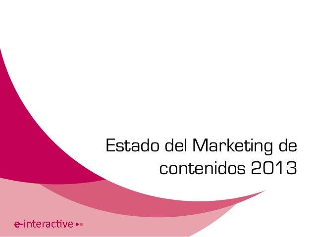 Estado del Marketing decontenidos 2013