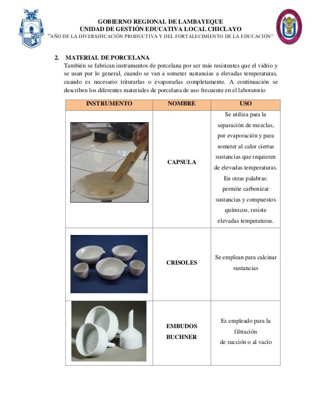 Informe reconocimiento y uso de material y equipo de - Suelos de porcelana ...