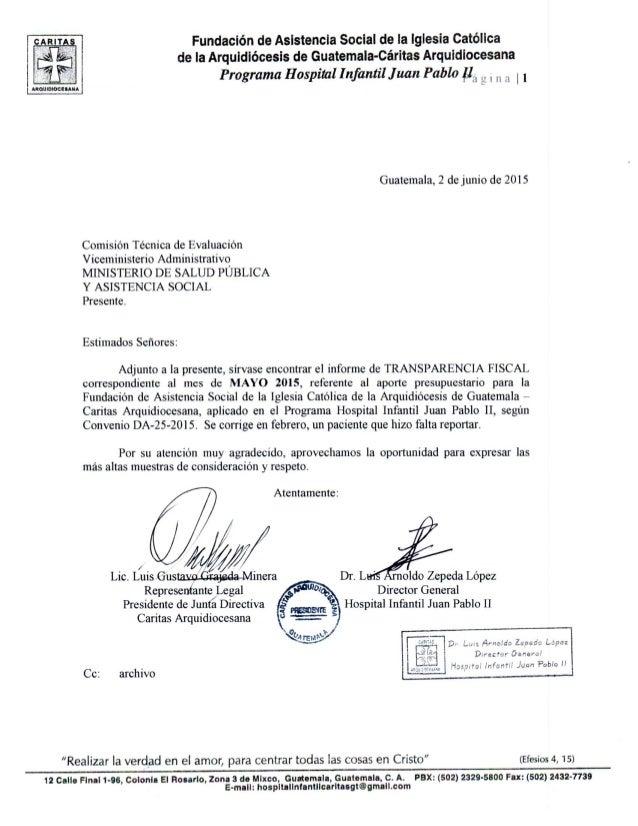 Fundación de Asistencia Social de Ia Iglesia Católica de la Arquidiócesis de Guatemala-Cáritas Arquidiocesana  Programa Ho...