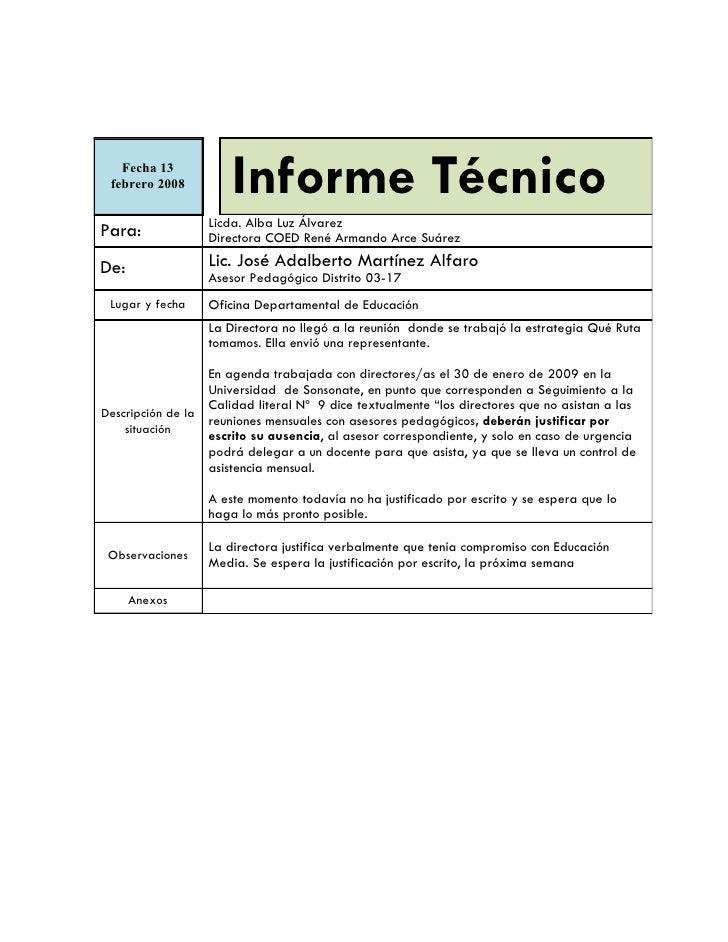 Informe Metalio, René, CureñAs
